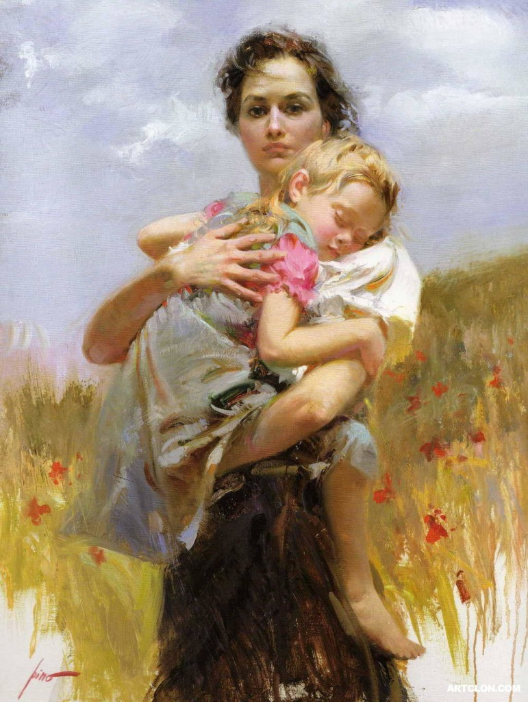 painting mother & child