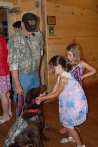 Girls vet dog