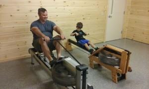 Luke Joel rowing