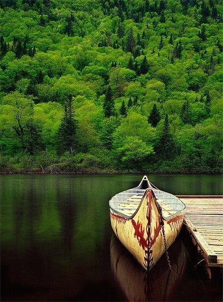 canoe on lake
