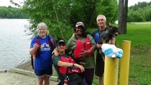 Kayaking w blind group
