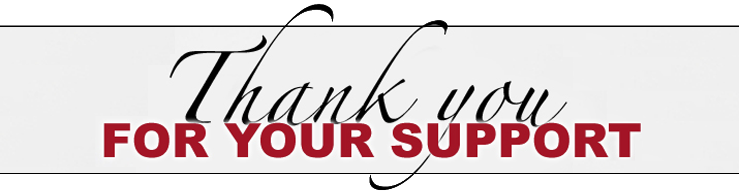 thank you for your support brenda everson shaw